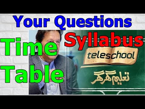 Tele School Schedule on ptv channel live streaming l Tele Sc