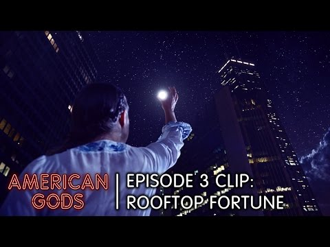 Episode 3 Clip: Rooftop Fortune | American Gods