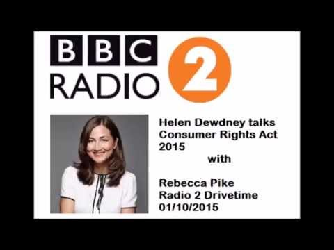 Discussing the Consumer Rights Act 2015 with Rebecca Pike on Radio 2 Drive time