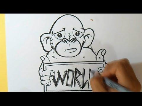 cmo dibujar un Mono Graffiti  Wizard art  by Wrld  YouTube