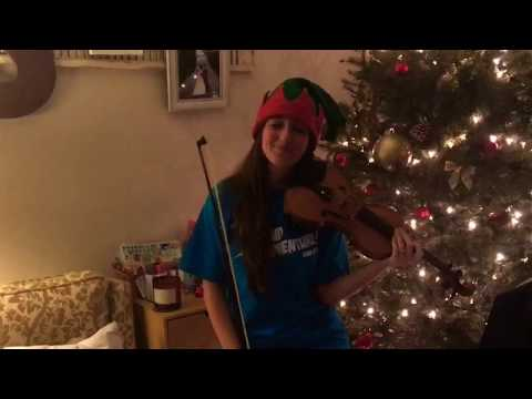"""Frosty The Snowman"" Violin   12 Days of Christmas"