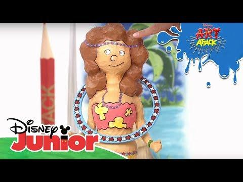 Art Attack Bastelclip #66: Hula Spiel   Disney Junior