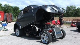 Custom Flip Top VW Funny Bug with 327 Chevy