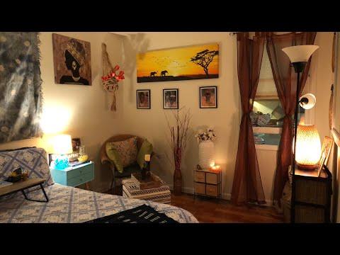 Coastal African Decor Guest Bedroom Reveal