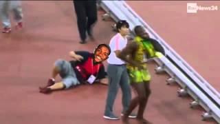 Чемпионат мира2015 Пекин Гатлин сбил Болта на сегвее! Смотреть всем!! Шок!!
