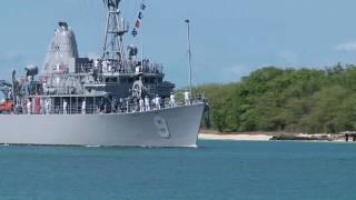 USS Pioneer (MCM 9) arrives at Pearl Harbor-Hickam, Hawaii, RIMPAC 2010.