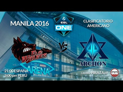 DOTA 2 - ELITE WOLVES vs TEAM ARCHON - 1 - ESL ONE MANILA 2016 - Viciuslab