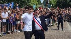 Benjamin Pavard acceuilli en héros dans sa ville natale Jeumont