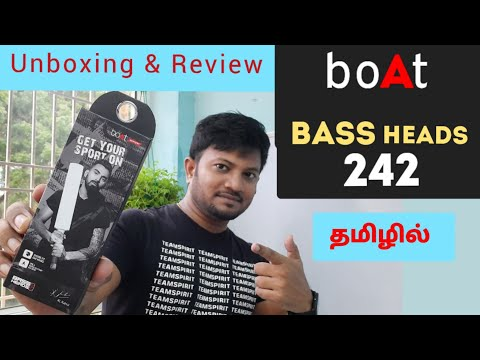 BOAT Bass Heads 242 wired headphones| Unboxing & Review| with Hook for Exercises and running purpose