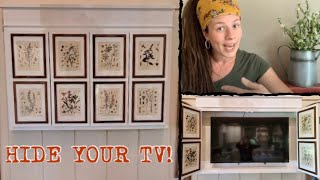 How To Build A Hidden Tv Cabinet— Hide Your Tv With Art!