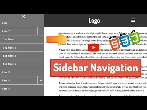 Responsive Sidebar Menu Using HTML, CSS And Javascript From Scratch With Sub Menus