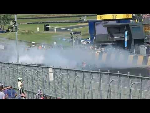 Formula 1 and V8 Supercar Tandem Burnout