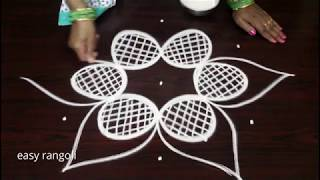 Cute friday rangoli kolam designs by Suneetha || easy & simple small muggulu