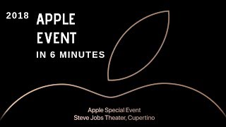 Apple Launch Event in 6 Minutes - iPhone XS, iPhone XS Max & iPhone XR