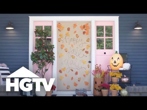 Easy Halloween Front Door Decor Hgtv Youtube