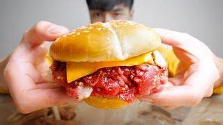 Hamburguesa de Carne Cruda