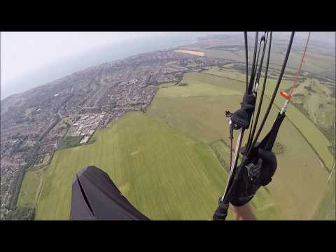 Cross Country Paraglider flight from High & Over to Brighton Marina