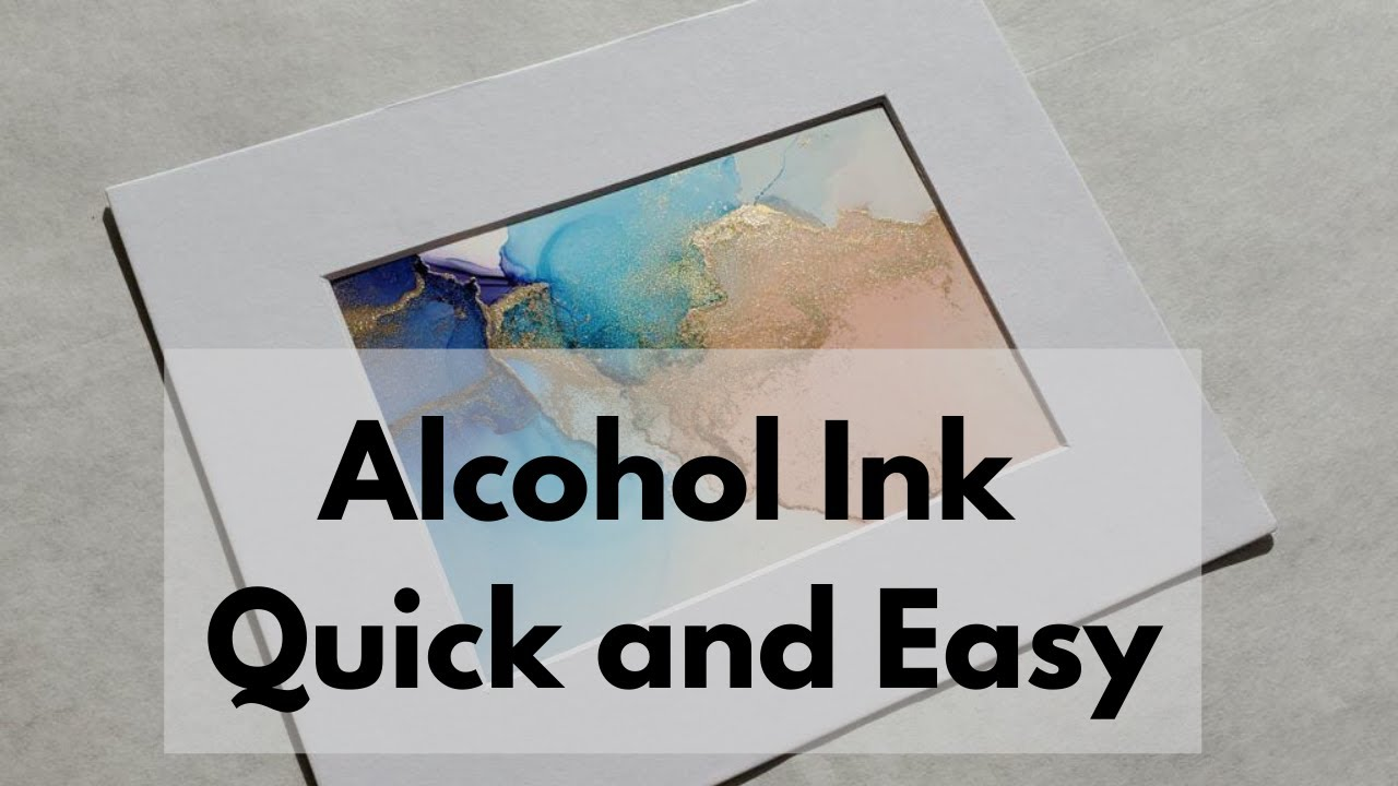 Alcohol Ink Art Made Quick and Easy With Blow Dryer