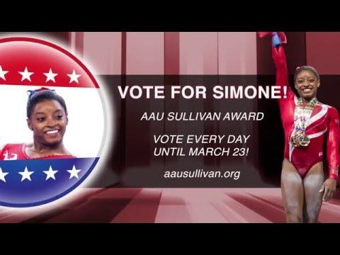 Vote for Simone Biles to win the AAU Sullivan Award!