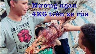 DTVN - Cả nhà nướng NGAN 4KG trên xe rùa  ăn mừng iphone 8 plus