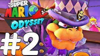 Super Mario Odyssey - Gameplay Walkthrough Part 2 - 1 HOUR Gameplay Demo