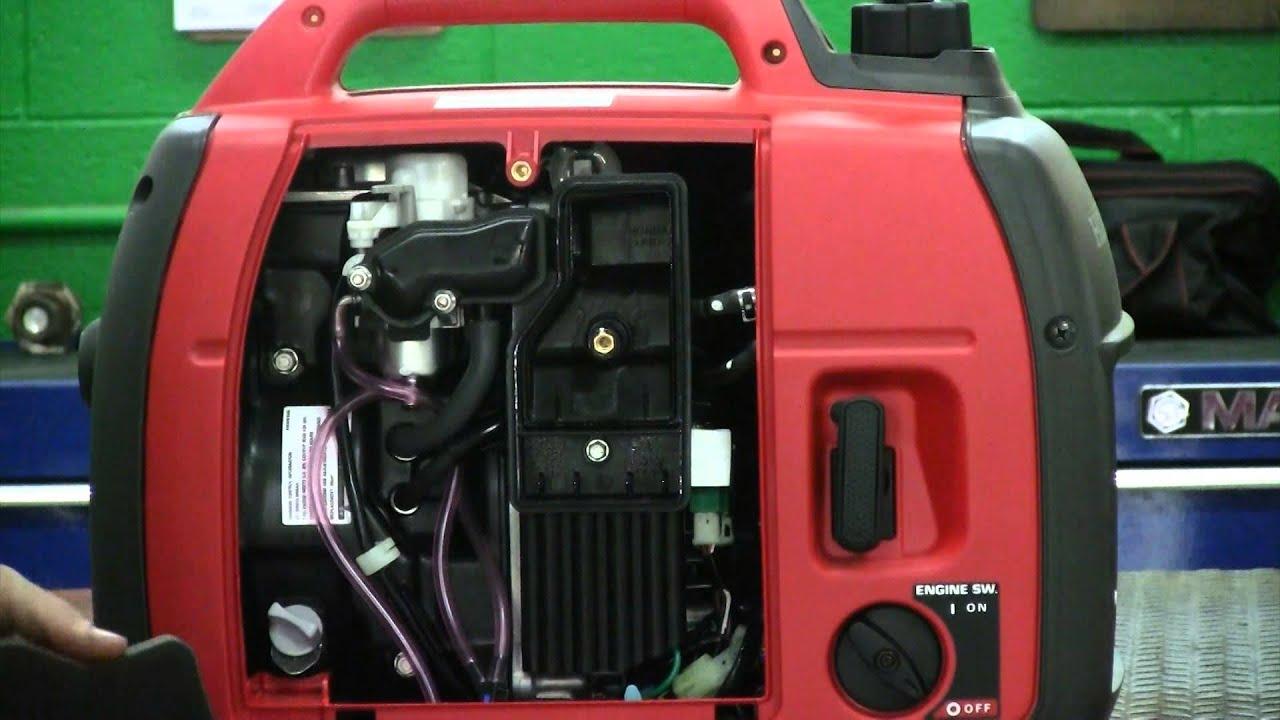 clean  replace  air filter   honda generator eui youtube