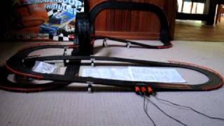 Tomy Aurora AFX Thunderloop Thriller slot car set in action #2