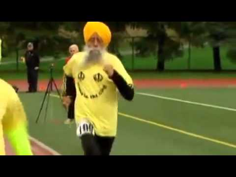 100 Year Old Sprinting