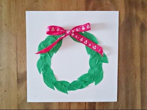 Bricolage Noël Fabriquer Une Carte De Noël Youtube