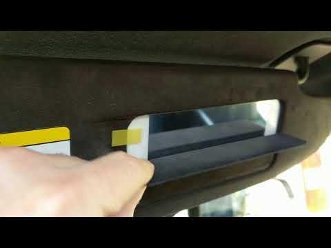 Tesla Model S Lighted Vanity Mirror Sunvisor