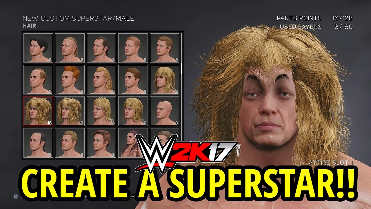 WWE 2K17 - CREATE A SUPERSTAR!! (FULL BREAKDOWN!!)