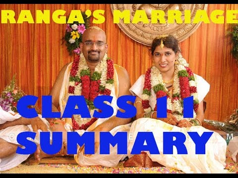 NCERT Solutions for Class 11th: Ch 3 Ranga's Marriage English