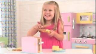 Childrens Wooden Pastel Pop Up Toy Toaster Kitchen Toys, Kidkraft 63162