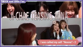 (ENGSUB) Teasing😆Mina, Twice x Little fan