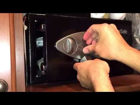 How to unlock your sentry safe when it's low on battery and you have