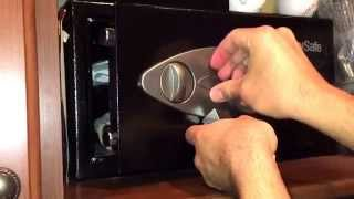 How to unlock your sentry safe when it's low on battery and you have lost the key.