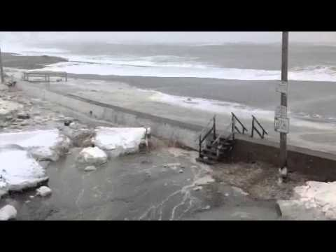 Winthrop, MA blizzard 2013 ocean flooding