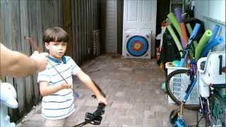 Kids Making Money From Shooting Archery - Recurve Bow Target Practice Contest