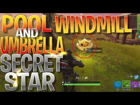Search Between A Pool, Windmill And An Umbrella Challenge Location - 10 *FREE* Battle Stars!
