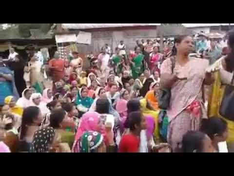 "Women's are Protest against Assam Government. The slogan is ""মূখ্যমন্ত্ৰী সৰ্বানন্দ, আমাৰ বাবে নিৰান"