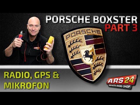 Autoradio Einbau im Porsche Boxster, GPS-Antenne & Mikrofon - PART 3