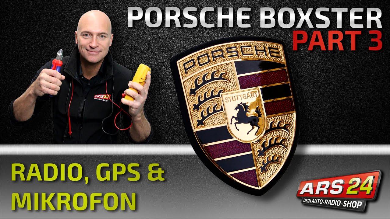 Autoradio Einbau im Porsche Boxster, GPS-Antenne & Mikrofon - PART 3 ...