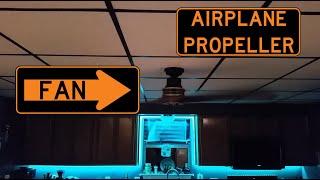 "KICHLER 56"" AIRPLANE PROP CEILING FANS - High Speed"