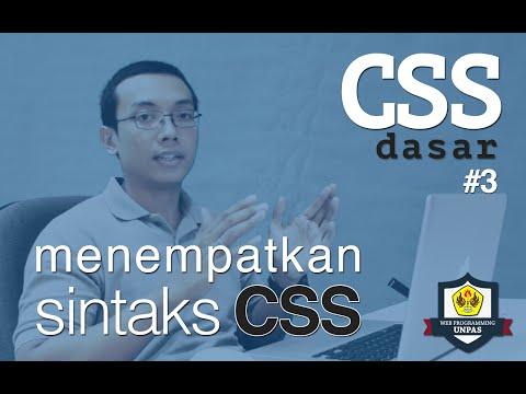 CSS Dasar - 3 - Penempatan CSS