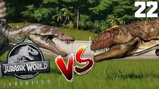 ⚔️ SPINO vs GIGANOTO - Jurassic World Evolution PL #22 | spinozaur vs giganotosaurus