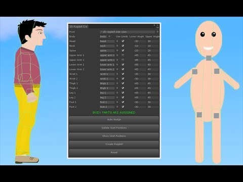 2D Ragdoll Creator Extension For Unity