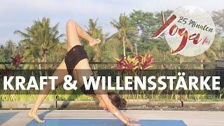 Power Vinyasa Yoga für Kraft & Willensstärke |  25 Minuten Home Workout