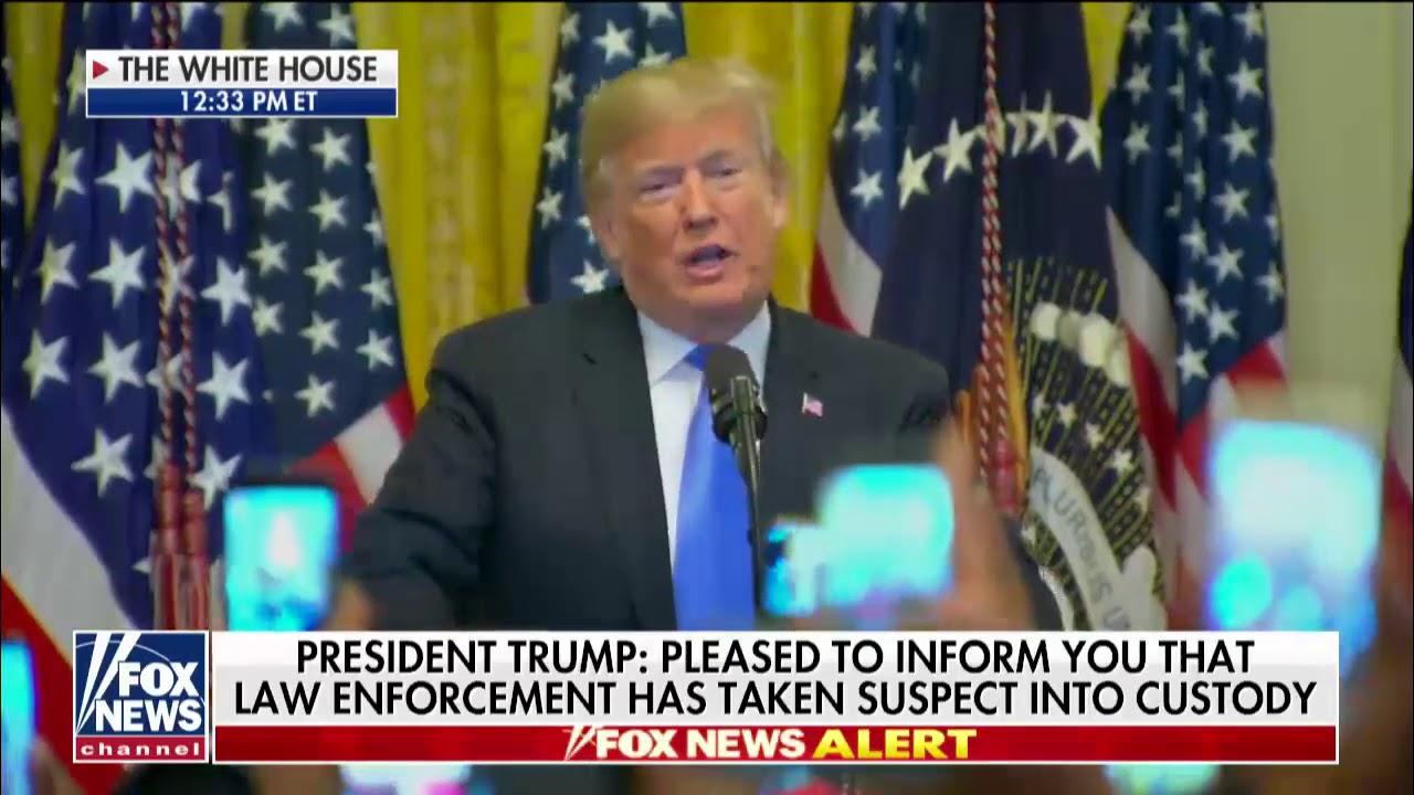 President Donald J. Trump Speaks After Bombing Suspect Caught
