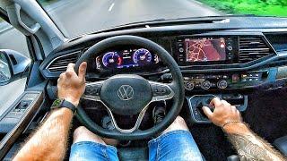 2021 Volkswagen Multivan 2.0 biTDI - POV TEST Drive / Тест драйв от первого лица