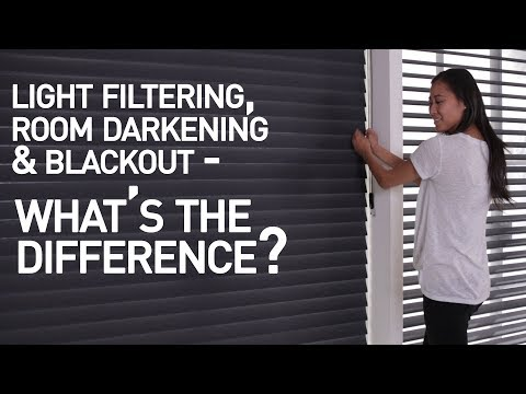 Light Filtering Vs Room Darkening Vs Blackout Shades - What's The Difference?